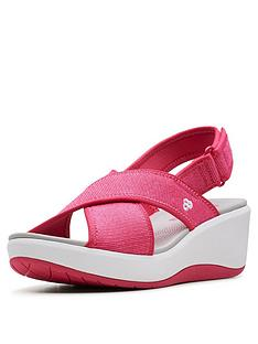 8c2b550f1bc Clarks Cloudsteppers Step Cali Cove Wedge Sandals - Pink