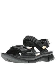 b245892a97e Clarks Tri Walk Flat Sandals - Black