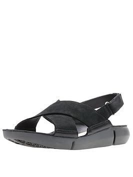 clarks-tri-chloe-flat-sandals-black