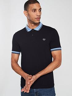 fred-perry-contrast-rib-pique-polo-navy