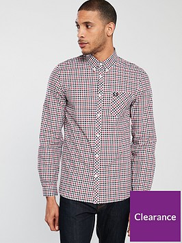 fred-perry-four-colour-gingam-long-sleeve-shirt-rosso