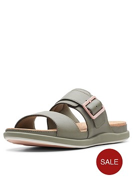 clarks-cloudsteppers-step-june-tide-flat-sandals-olive