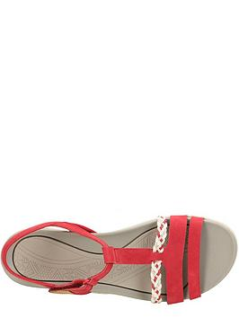 906f4fcbc5e3 ... Clarks Tealite Grace Flat Sandal Shoes - Red. View larger