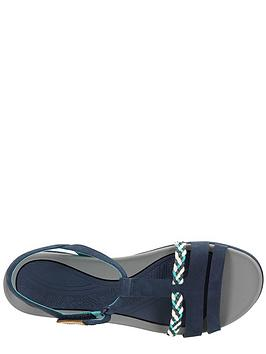 dd49e07c1a3f ... Clarks Tealite Grace Flat Sandal Shoes - Navy. 4 people have looked at  this in the last couple of hrs.