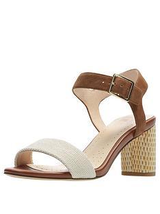 6d506a92340 Clarks Amali Weave Heeled Sandals - Tan