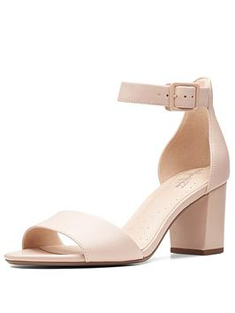 Clarks Clarks Deva Mae Heeled Sandal Shoes - Nude Pink Picture
