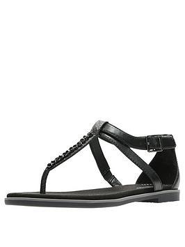 clarks-bay-poppy-flat-sandal-black