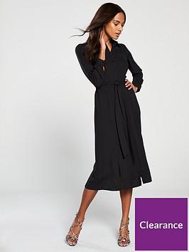 v-by-very-button-through-midaxi-shirt-dress-black