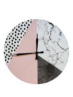 arthouse-geometric-pink-clock