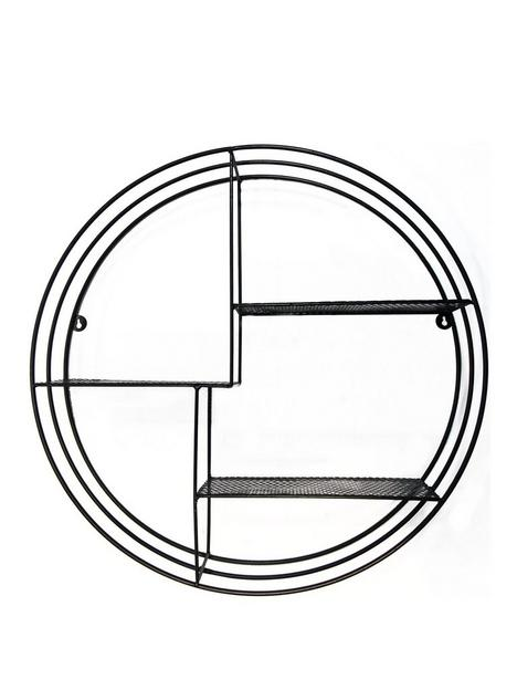 arthouse-black-decorative-shelf