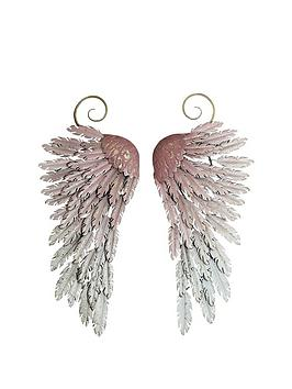 ARTHOUSE  Arthouse Large Metal Angel Wings Wall Art