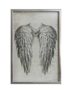 arthouse-angel-wings-silver-metallic-string-art-framed-print