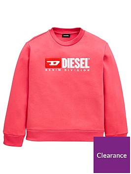 diesel-girls-crew-neck-logo-sweat-pink