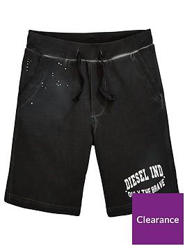 diesel-boys-logo-jersey-shorts-black