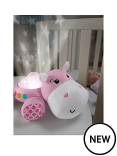 fisher-price-hippo-cuddle-projection-soother-pink