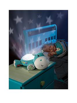 fisher-price-hippo-cuddle-projection-soother-blue