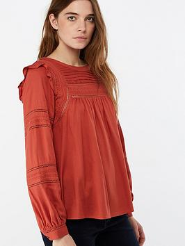 monsoon-juniper-lace-frill-top-red-rust