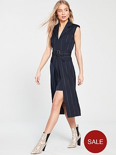 river-island-river-island-stripe-belted-midi-dress-navy