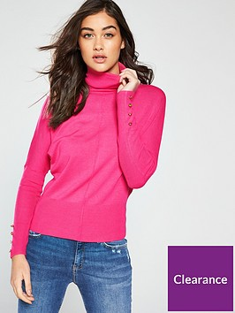 river-island-river-island-roll-neck-knitted-jumper-bright-pink