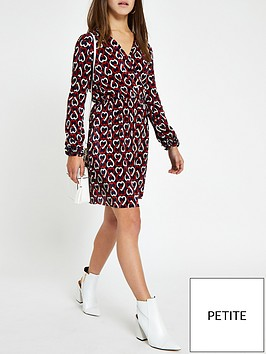 ri-petite-ri-petite-printed-plisse-tea-dress-navy