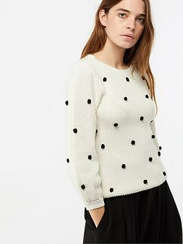 monsoon-paige-pompom-jumper-ivory