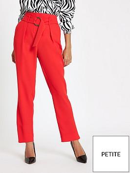 ri-petite-ri-petite-ring-detail-tapered-trouser-red