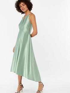 monsoon-sara-fit-amp-flare-satin-dress-green