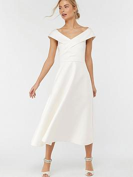 monsoon-grace-bardot-midi-wedding-dress-ivory