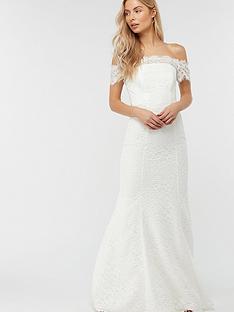 monsoon-sophie-lace-bardot-wedding-dress