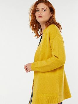 monsoon-reese-ribbed-edge-to-edge-cardigan-yellow