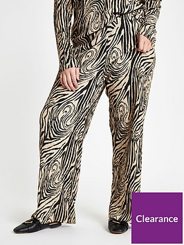 ri-plus-ri-plus-printed-plisse-jersey-trousers-beige