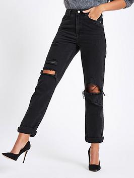 river-island-river-island-distressed-mom-jeans-black