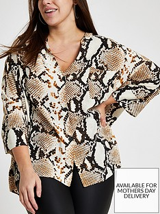 ri-plus-button-through-blouse-snake