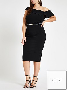 ri-plus-ri-plus-bardot-bodycon-midi-dress-black