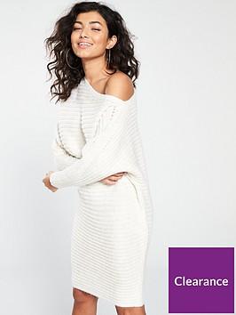 river-island-river-island-knit-asymetric-dress-cream
