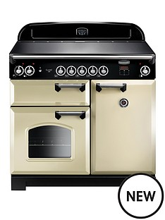 rangemaster-cla100eicr-classic-100cmnbspwide-electric-range-cooker-with-induction-hob-cream