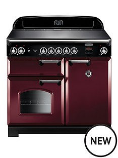 rangemaster-cla100eicy-classic-100cmnbspwide-electric-range-cooker-with-induction-hob-cranberry