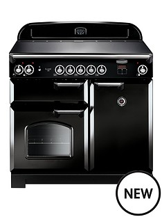 rangemaster-cla100eibl-classic-100cmnbspwide-electric-range-cooker-with-induction-hob-black