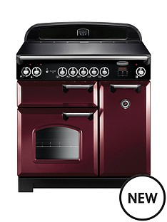 rangemaster-cla90eicy-classic-90cm-electric-range-cooker-with-induction-hob-cranberry