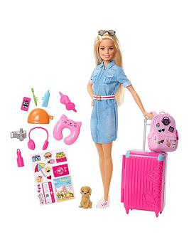 Barbie    Doll Travel Set With Puppy And Accessories