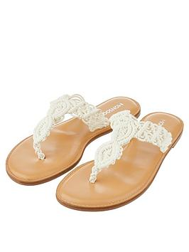 monsoon-macrame-toe-post-sandals-cream