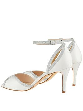 adf04d63d99 ... Monsoon Gizela Glitter Two Part Peep Toe Occasion Shoe - Ivory. View  larger