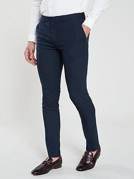 river-island-smart-skinny-navy-trousers