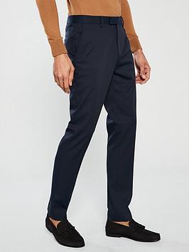 river-island-edward-texture-slim-navy-trousers
