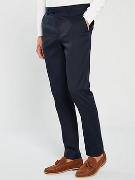 River Island River Island Edward Texture Skinny Navy Trousers Picture
