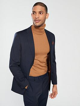 River Island River Island Edward Texture Navy Slim Jacket Picture