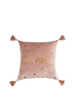 michelle-keegan-home-velvet-home-tasselled-cushion