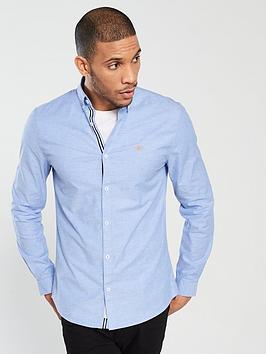 river-island-blue-oxford-stretch-long-sleeve-shirt