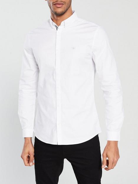 river-island-white-oxford-stretch-long-sleeve-shirt