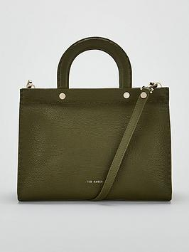 ted-baker-monicaa-stab-stitch-midi-tote-bag-green